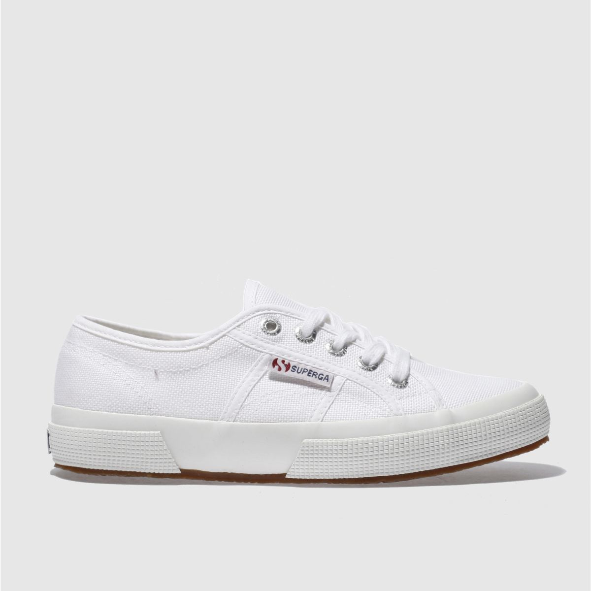 superga white 2750 cotton trainers