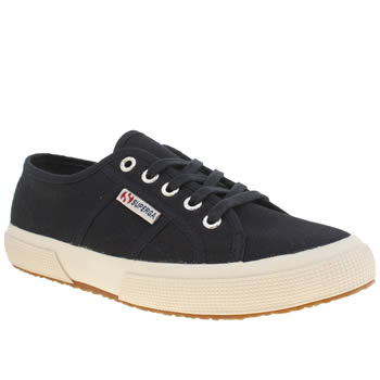 Womens Superga Navy 2750 Cotton Trainers