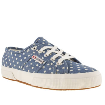 womens superga navy & white 2750 trainers