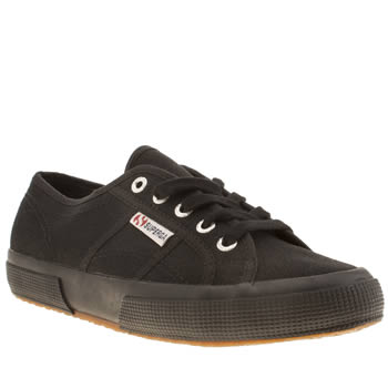 womens superga black 2750 trainers