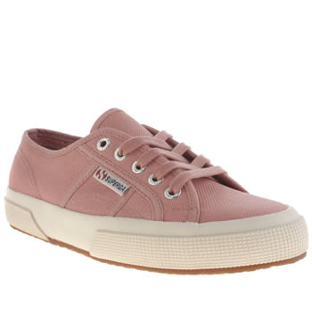 Womens Superga Pale Pink 2750 Cotton Trainers