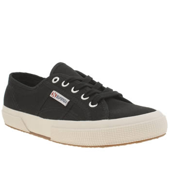 Superga Black & White 2750 Cotton Trainers