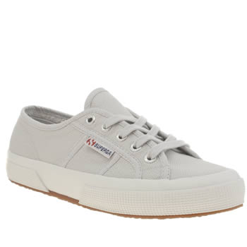 Superga Grey 2750 Cotton Womens Trainers