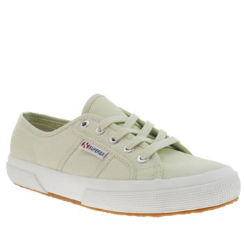 Superga Light Green 2750 Cotton Womens Trainers