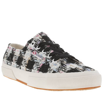 Superga Black & White 2750 Boucle Trainers