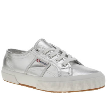 Superga Silver 2750 Womens Trainers