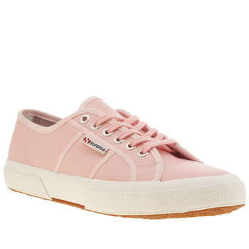 Superga Pale Pink 2750 Leather Womens Trainers