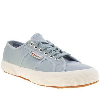 Superga Pale Blue 2750 Leather Trainers