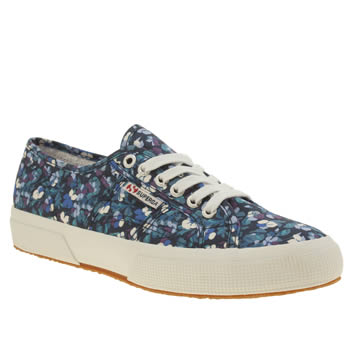 Superga Purple 2750 Liberty Print Womens Trainers