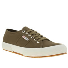 Superga Khaki 2750 Womens Trainers