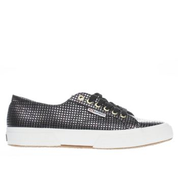 Superga Black & Silver 2750 Womens Trainers