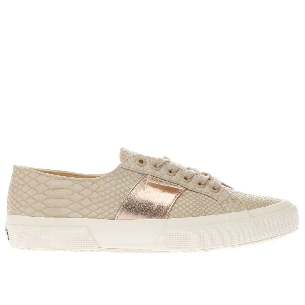 superga natural 2750 snake trainers
