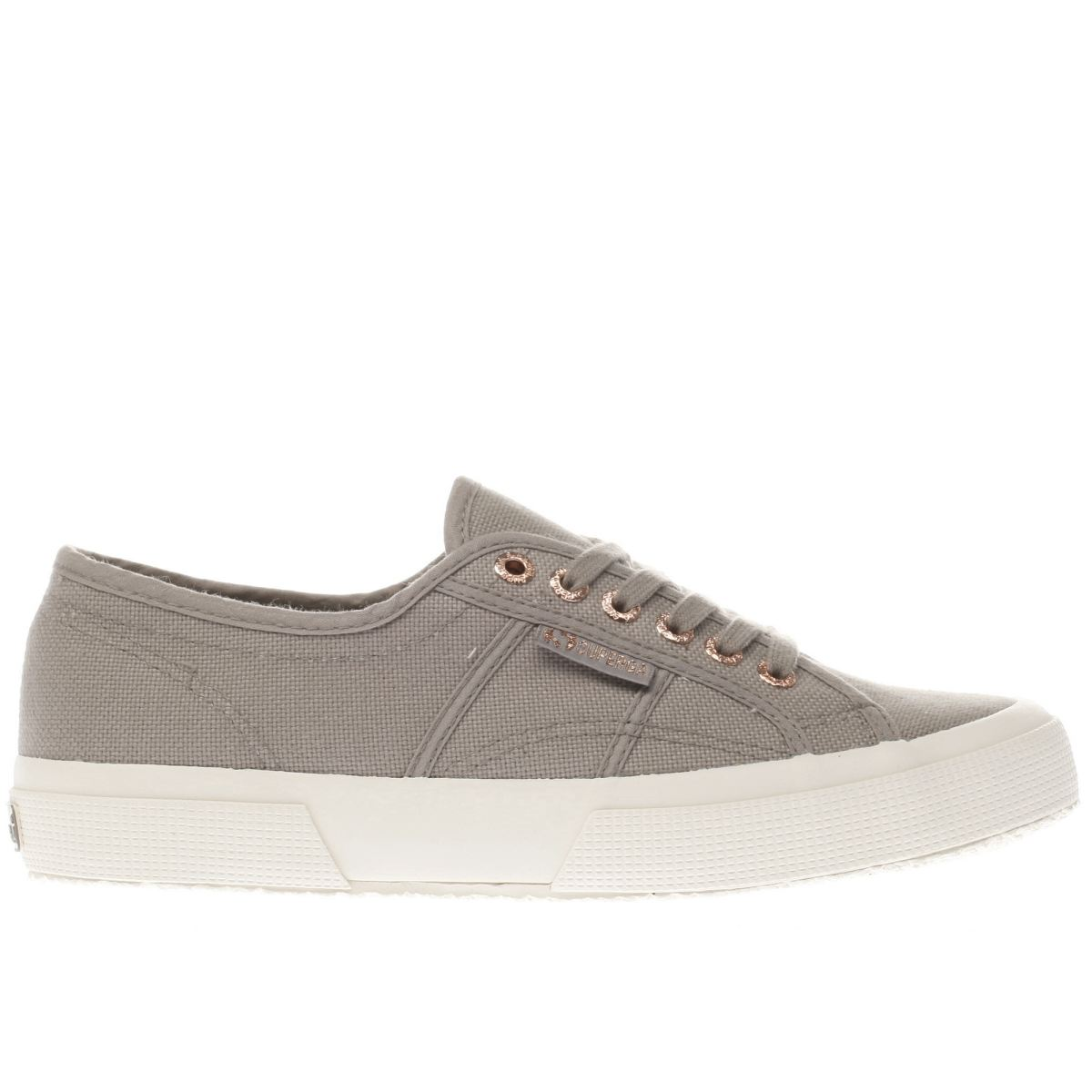 superga brown 2750 canvas trainers