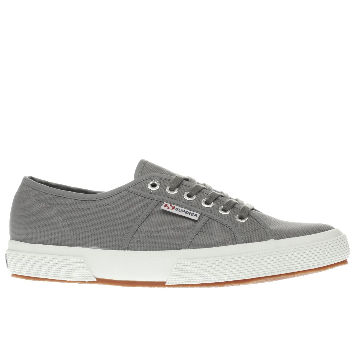 superga grey 2750 canvas trainers