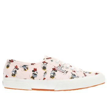 Superga Pink 2750 Disney Minnie Mouse Womens Trainers
