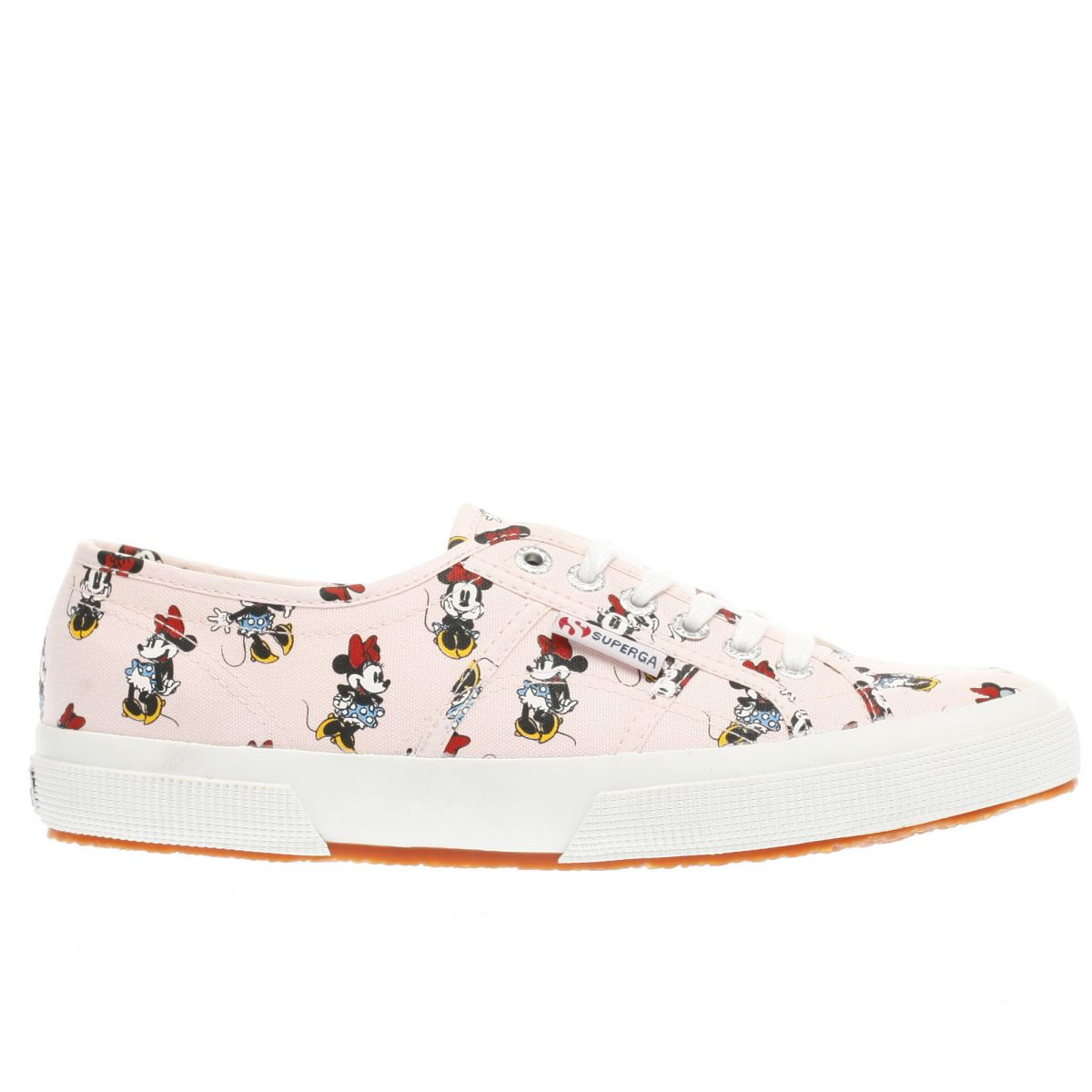 superga pale pink 2750 disney minnie mouse trainers