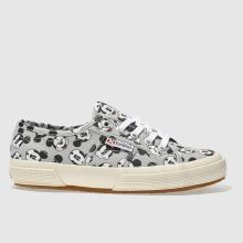 Superga Grey & Black 2750 Disney Mickey Mouse Womens Trainers