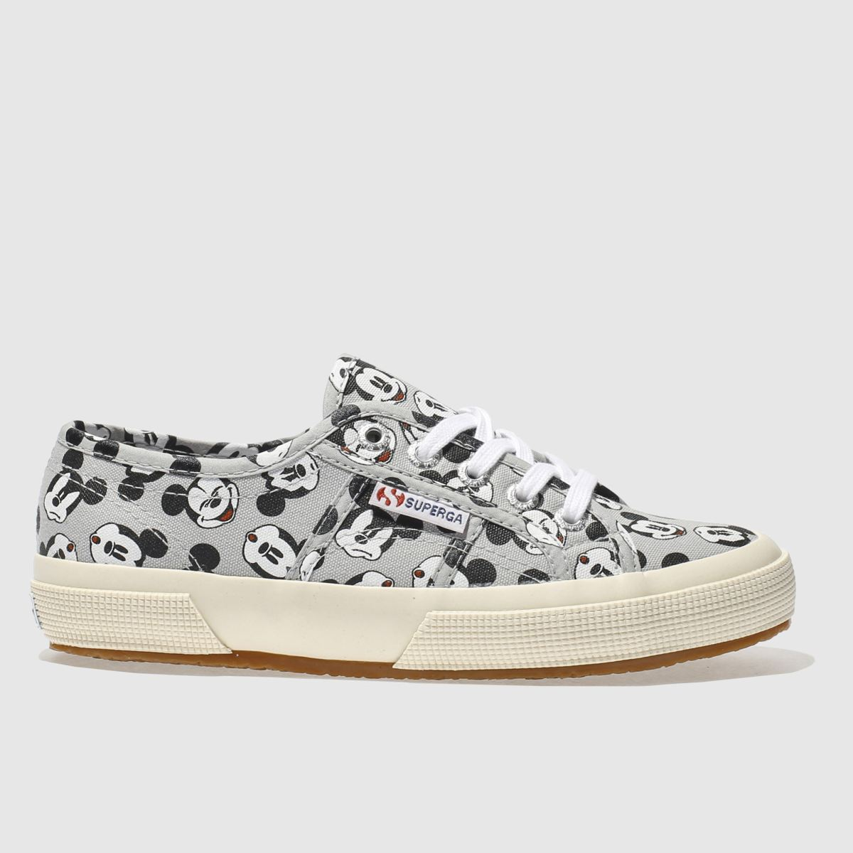 superga grey & black 2750 disney mickey mouse trainers
