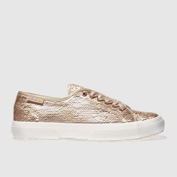 Superga Gold 2750 Sequins Womens Trainers
