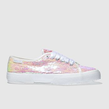 Superga Pink 2750 Sequins Womens Trainers