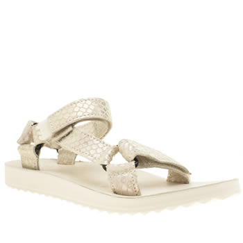 Teva White Universal Iridescent Sandals