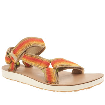 Teva Beige & Orange Original Universal Ombre Sandals