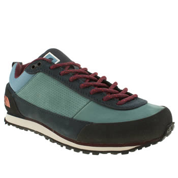 womens the north face  navy & red scend trainers