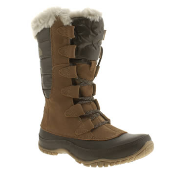 Womens The North Face Brown Nuptse Purna Boots