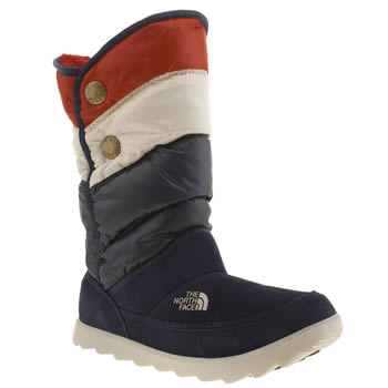 The North Face Navy & White Sopris Boots