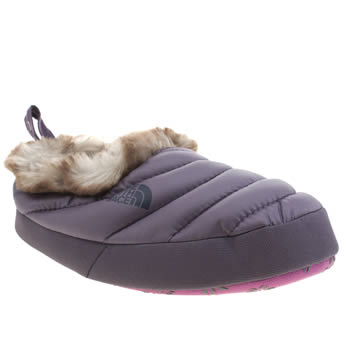 Womens The North Face Purple Tent Mule Fur Slippers