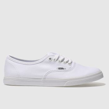 Womens Vans White Authentic Lo Pro Trainers