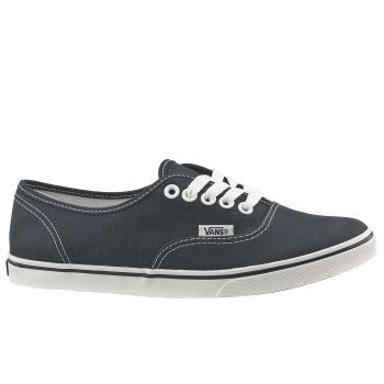 Womens Vans Navy & White Authentic Lo Pro Trainers