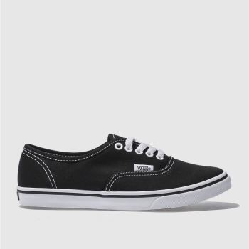 Womens Vans Black & White Authentic Lo Pro Trainers
