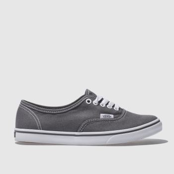 Womens Vans Dark Grey Authentic Lo Pro Trainers