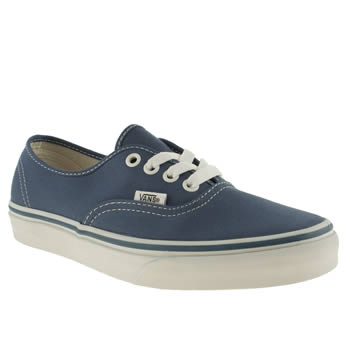 Womens Vans Navy Authentic Trainers