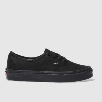 Womens Vans Black Authentic Trainers