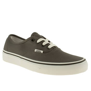 womens vans dark grey authentic trainers