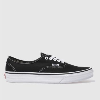 Womens Vans Black & White Authentic Ii Trainers