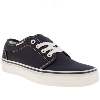 Womens Vans Navy 106 Vulc Trainers