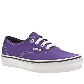 womens vans purple authentic v trainers