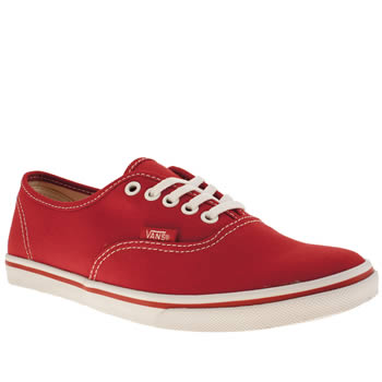 Womens Vans Red Authentic Lo Pro Iv Trainers