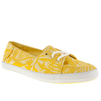 Vans Yellow Palisades Vulc Tropical Trainers