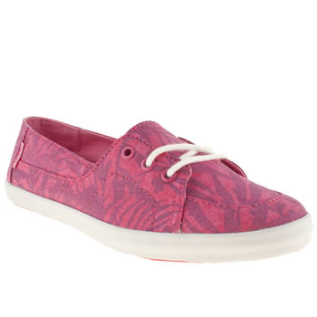 womens vans pink palisades vulc trainers