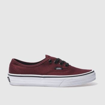 Vans Burgundy Authentic Vi Womens Trainers
