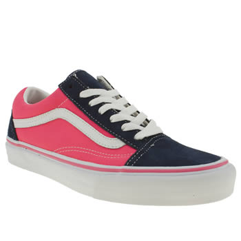 womens vans pink old skool trainers