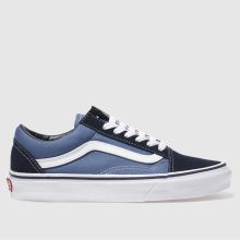 Vans Navy & White Old Skool Womens Trainers