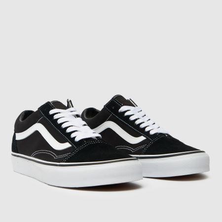 vans old skool trainers black white