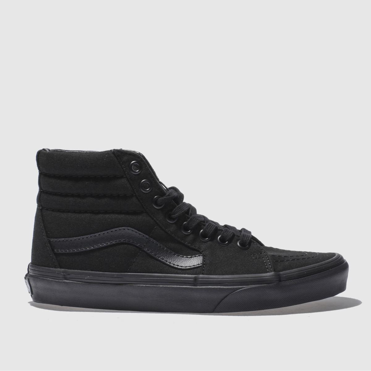 vans black sk8-hi trainers