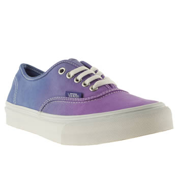womens vans purple authentic slim trainers