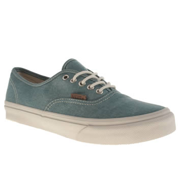 womens vans blue authentic slim trainers